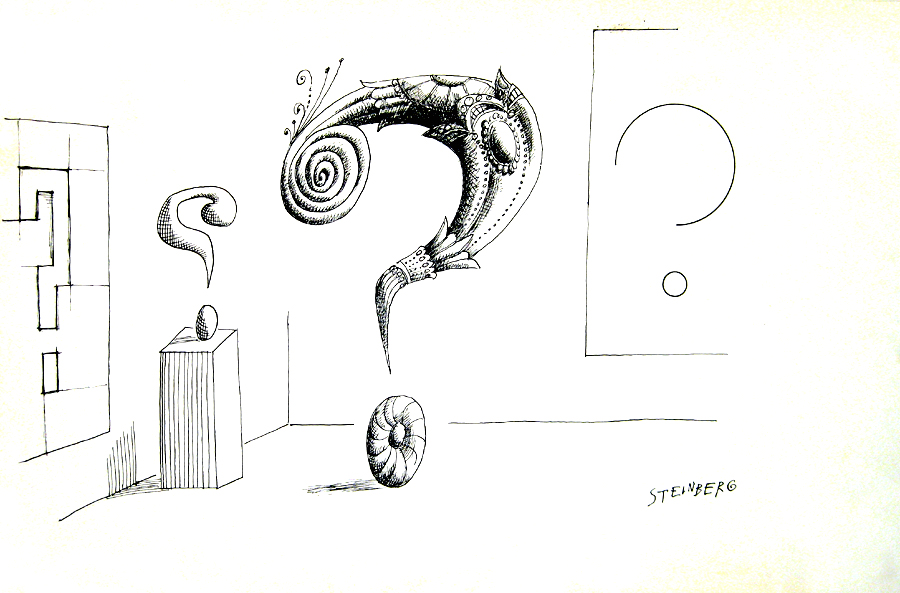 Saul Steinberg -untitled-question-marks-1961.jpg